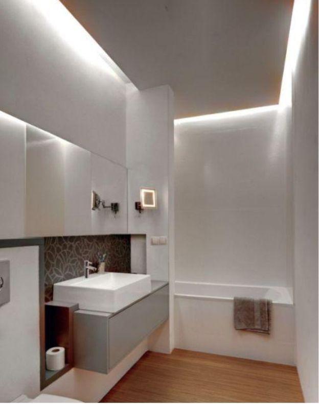 Znalezione Obrazy Dla Zapytania Podwieszany Sufit W łazience · Bathroom  IdeasDesign ModerneStahlWashroomLe ...