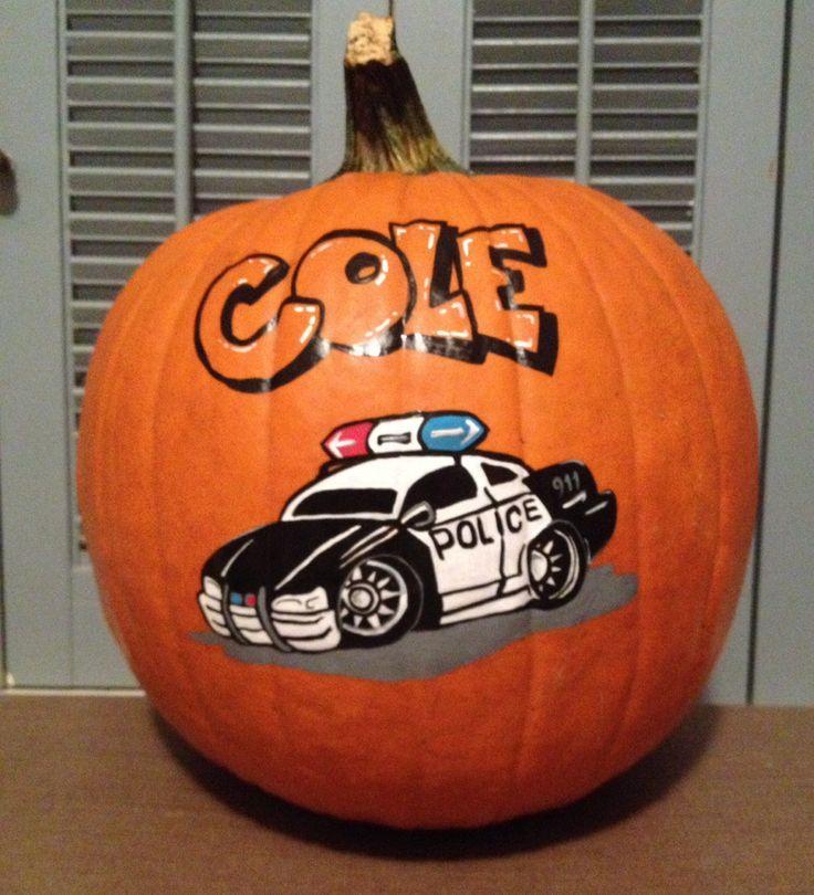 Police Car pumpkin | 2013 PAINTED PUMPKINS | Pinterest ...