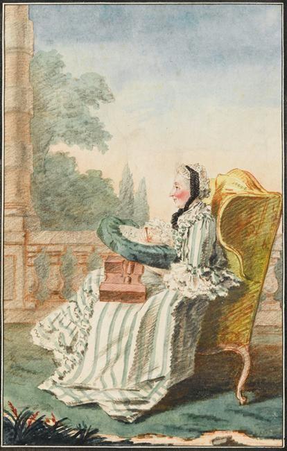 Madame la princesse de Bouillon, Carrogis Louis Carmontelle (1717-1806)