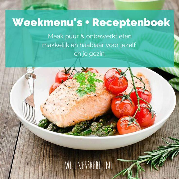 """[SUPER AANBIEDING] Eet je gezond maar:""""Het moet wel leuk blijven"""", """"Ik vind het lastig om te combineren met mijn gezin"""" en """"Ik kan de verleidingen niet weerstaan""""? Ontdek mijn weekmenu's en receptenboek waardoor puur & onbewerkt eten makkelijk haalbaar is. En die ook rekening houden met jouw hormonen (you're welcome!). Vanaf woensdag 22 oktober te verkrijgen. INTRODUCTIEPRIJS! Meld je voor woensdag 22-10 21.00 uur aan voor mijn nieuwsbrief en blijf op de hoogte van deze introductiekorting."""