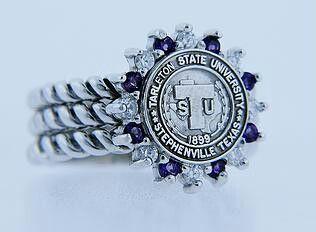 Beautiful Tarleton State University class ring