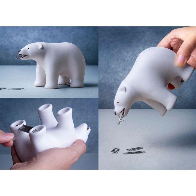 porta nastro adesivo e porta graffette a forma di orso polare bianco to buy: http://www.blomming.com/mm/lifestylehomedecor/items/1005715?promid=131939