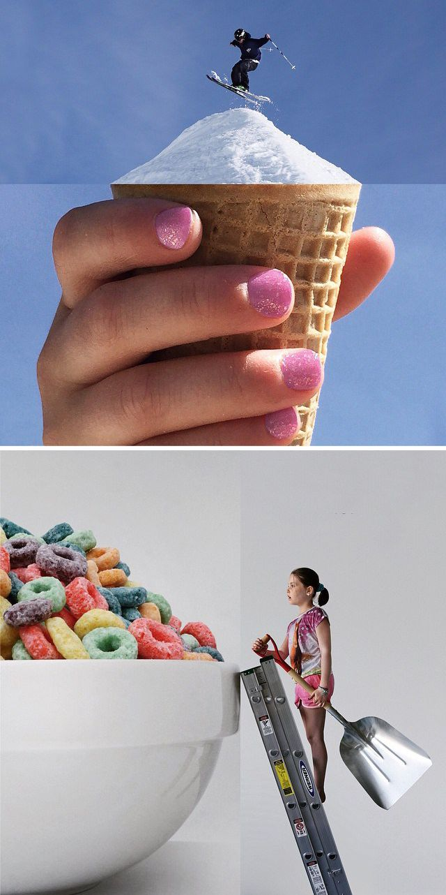 Cool Photo of the Day | Clever juxtapositions by photographer Stephen McMennamy | More like this on my #food_art and #photography_humor boards.