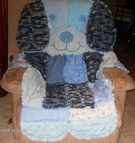 Puppy blanket made from Simplicity Pattern 4993