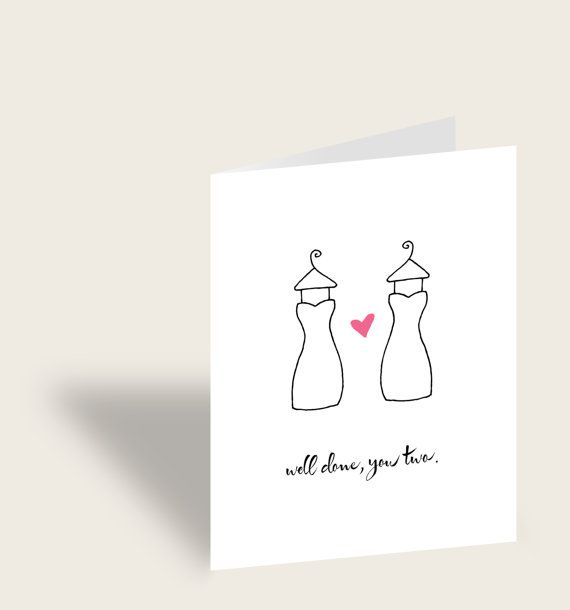 Gay CoupleWedding Congratulations card