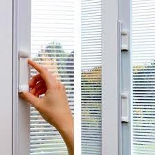 Sliding Glass Door With Internal Blinds.