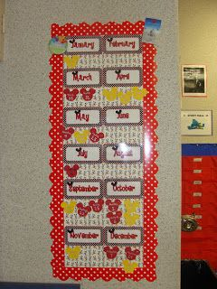 Mickey Mouse birthday board! Disney Classroom!