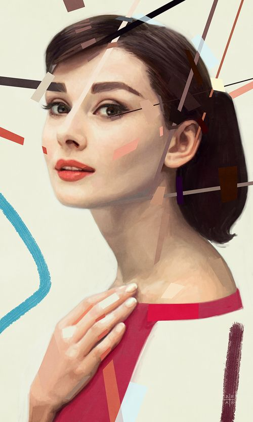 The classiest lady of all... Audrey Hepburn Portrait by Ástor Alexander | #DigitalArt