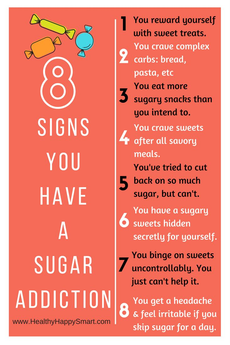 8 Signs you have a sugar addiction - try a sugar detox diet!