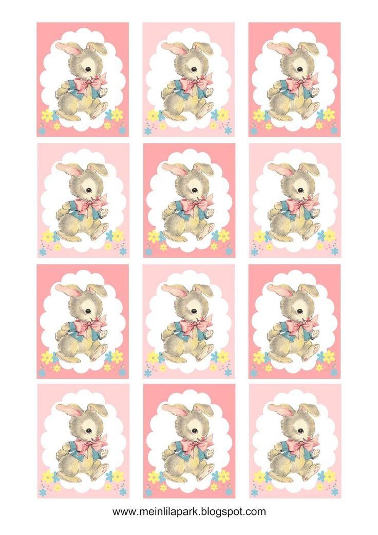 FREE printable bunny gift tags | tags for Easter basket