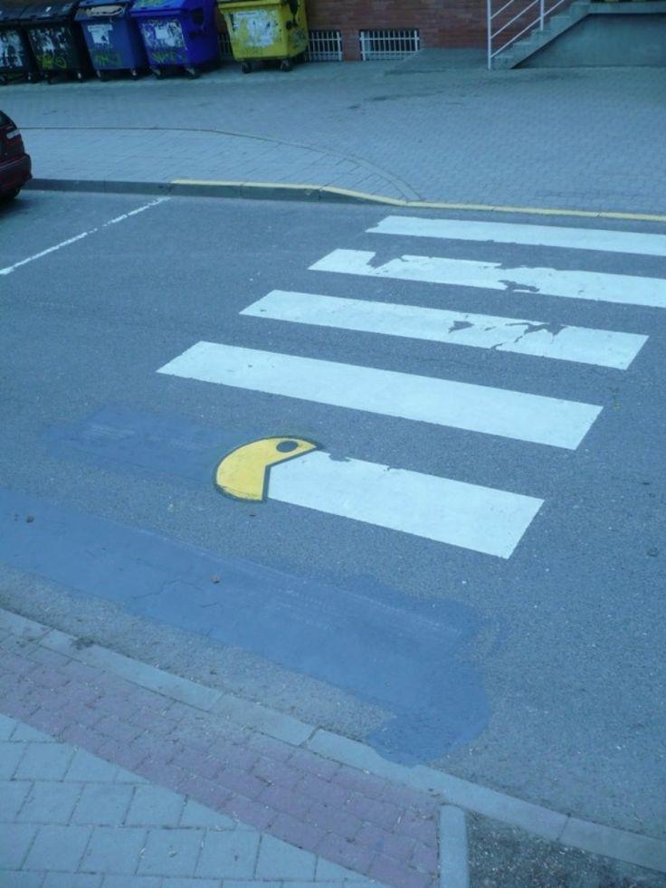 Pacman Streetart is always a winner