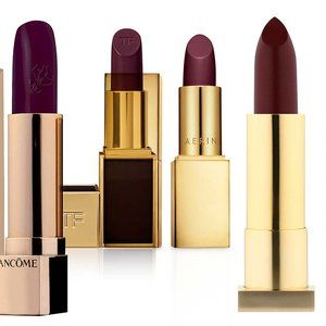 everybody looks great in plum-colored lipstick.