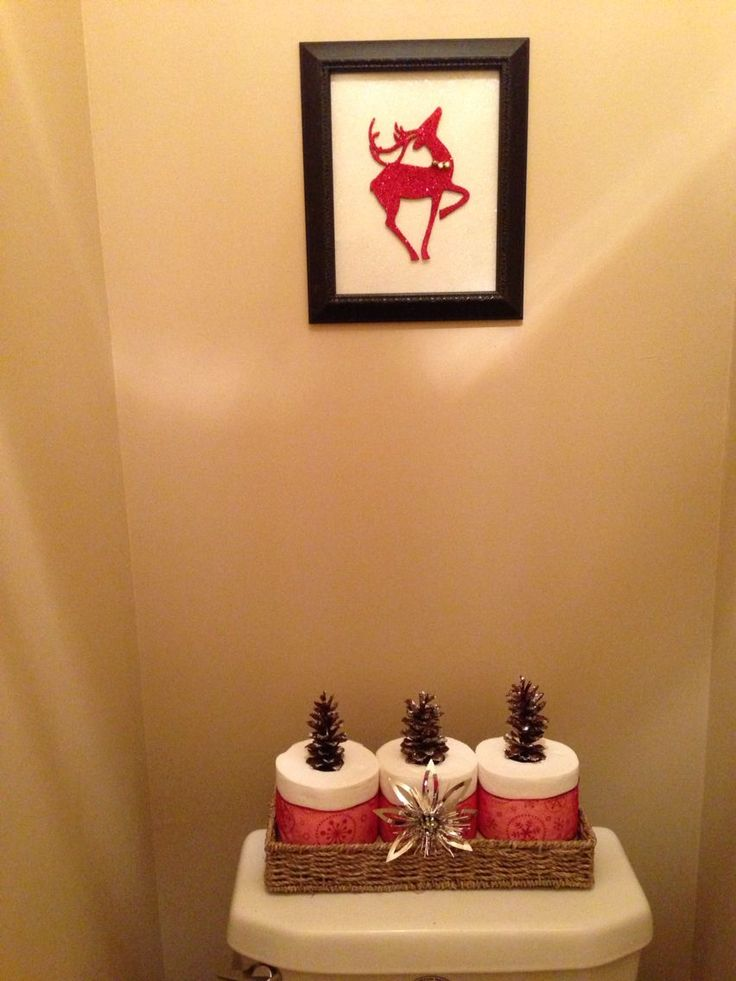 dollar tree christmas decor for bathroom i used an old frame some white glittery - Feldstein Kaminsimse