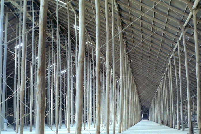Murtoa Stick Shed interior, 1992 | via Culture Victoria