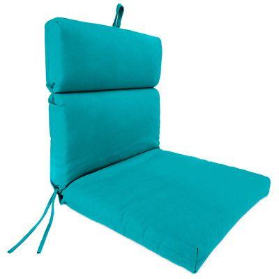 Beachcrest Home Outdoor Adirondack Chair Cushion Fabric: Fresco Atlantis