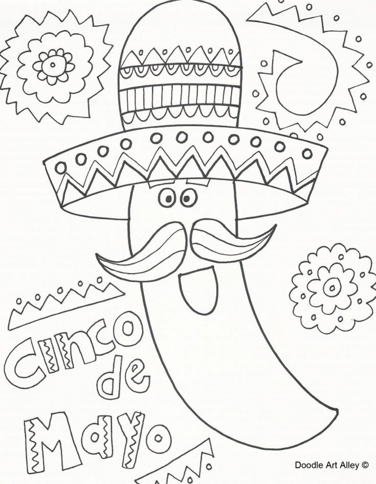 167 Free Printable Cinco De Mayo Coloring Pages For Kids From Doodle Art Alley