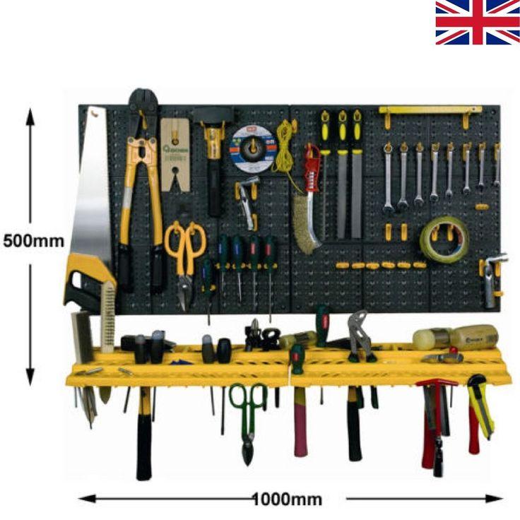Garage Wall Tool Rack Workshop Storage Organizer Home Workstation Garden 50 Hook #BiGDUGSolutions