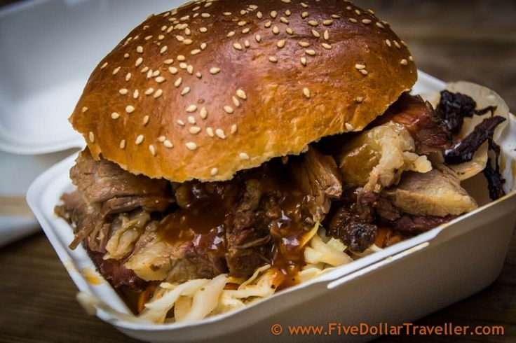 St. Nicholas Market, Bristol, England - Grill Stock beef brisket burger. Some of the amazing noms you can find in Bristol!
