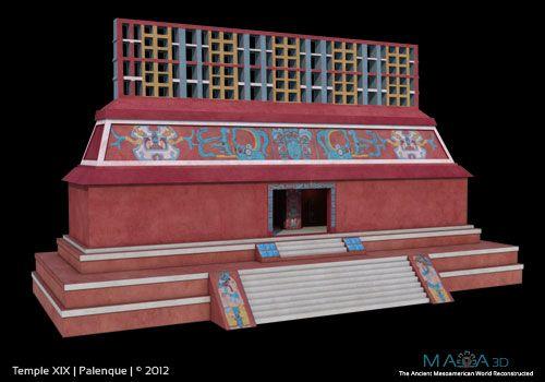 Palenque, Temple XIX: http://www.maya-3d.com/content//palenque-temple_XIX.jpg