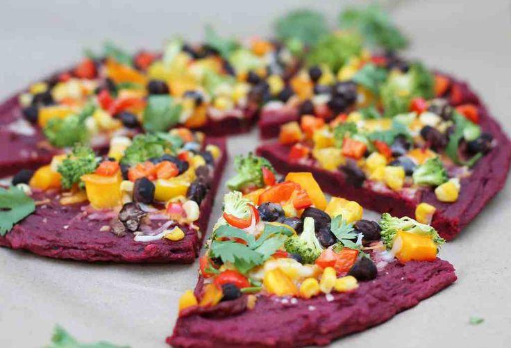 groentepizzabodems, o.a. bietjes, aubergine, pompoen, courgette... njam njam