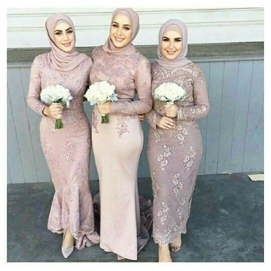 Hijabi Bridesmaids European Style