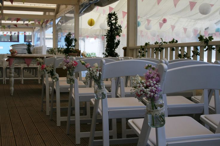 I Love These Flower Jar Ceremony Chair Decorations