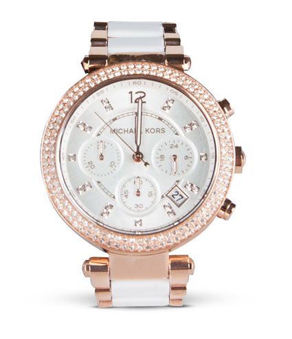 Rokoko Michael Kors White Rose Gold Watch $499