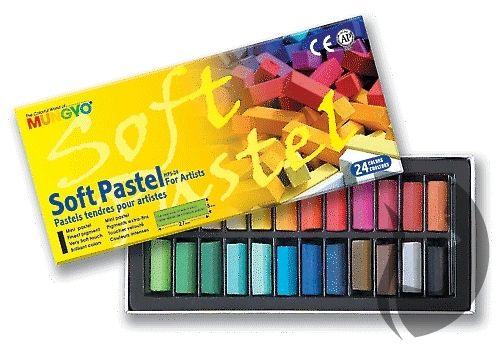 Mungyo Soft Pastel for artists - měkké mini křídy - 24 ks