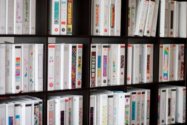 "Mathnasium ""Mathletes"" individualize their workbook binders."