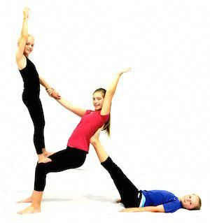 4 person acro pose  google search yogaposes  two people