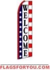 Welcome (Patriotic) Feather Flag 2.5' x 11.5'