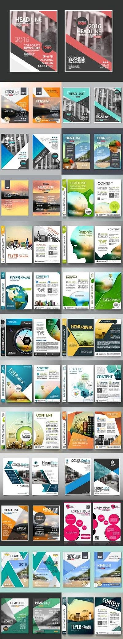 Business cover flyers brochure design 26