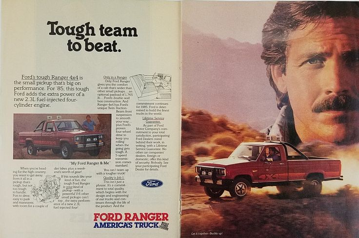 1985 Ford Ranger Truck Tough Team To Beat Vintage Print Ad