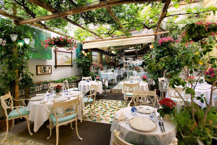 The pergola terrace Ristorante L'Antica Trattoria in