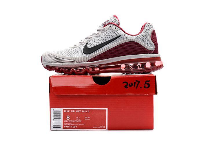 Nike Air Max 2017.5 Men Running Shoes Light Grey Wine