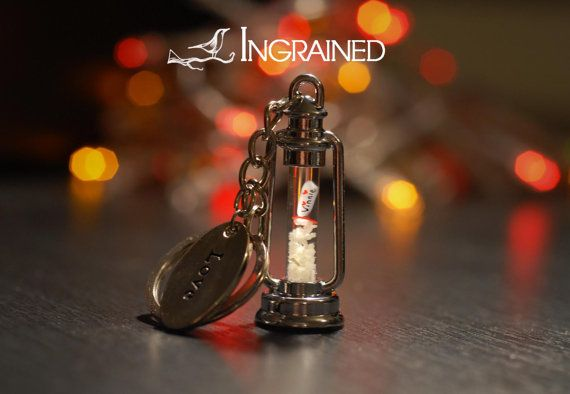 Name on Rice Valentine's Glow Lamp Keyring by IngrainedNZ on Etsy, $24.99