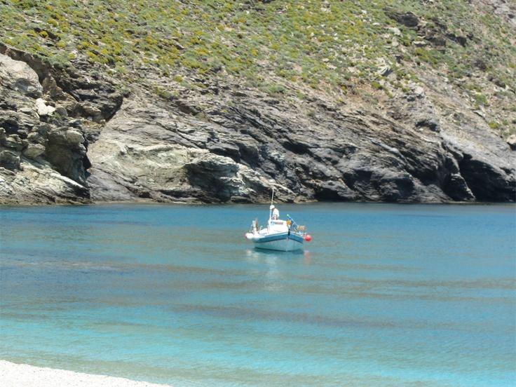 gone fishing....  at Zorkos beach, Andros #zorkos #krinossuiteshotel #krinoshotel #andros #batsi #Cyclades #Greece #visitgreece #holidays #achla #micraagglia #micraanglia