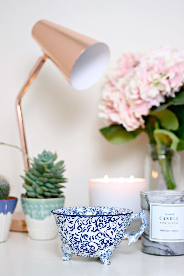 Homeware Haul! H&M, ANthropologie, Oliver Bonas, Up In Lights, TImothy Dunn, Ikea  Copper Lamp