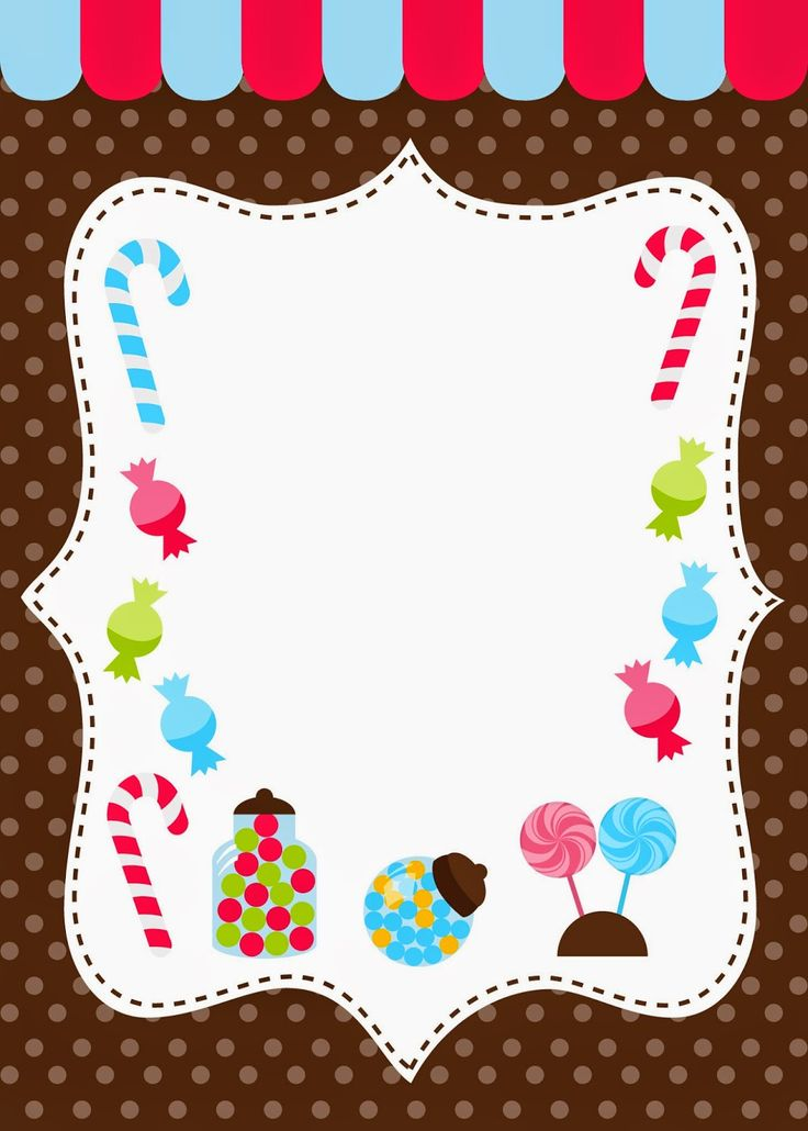 Candy invitations free printable
