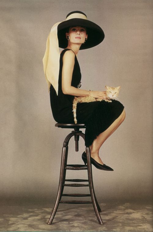 Any girl who is brave enough to wear a black dress holding a cat is a woman who cares not what others think.  I love it.
