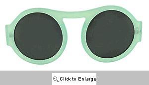 Riley Big Round Retro Sunglasses - 321 Blue