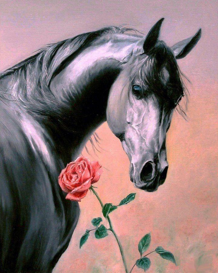 Днем, открытка с днем рождения с лошадками