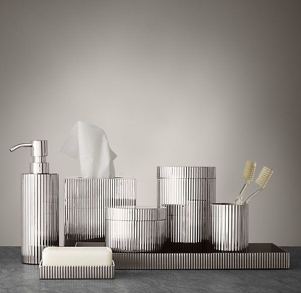 Ribbed Metal Accessories Collection. Bathroom SpaMaster ...
