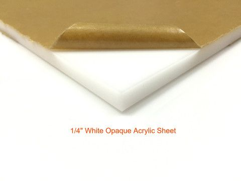 "24"" x 36"" - 1/4"" Thick White Acrylic Sheet"