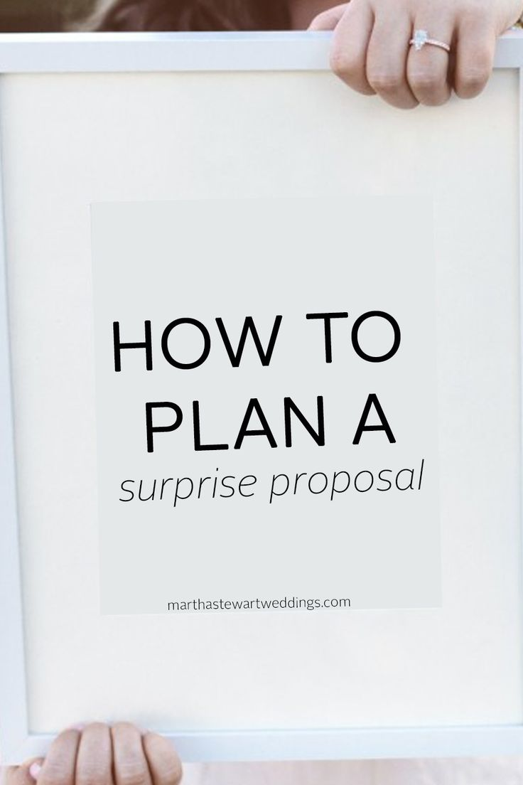 How to Plan a Surprise Proposal | Martha Stewart Weddings