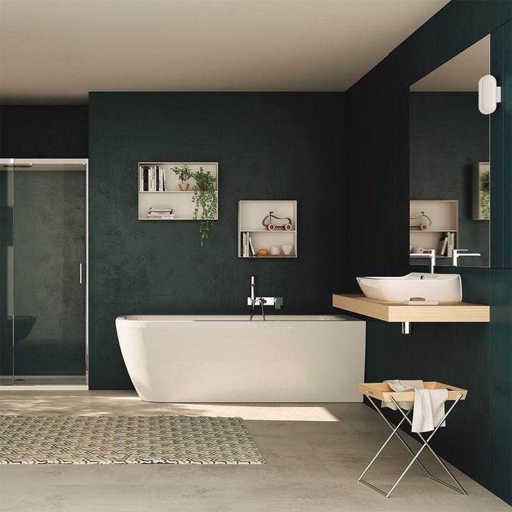 Hjørne Badekar Nauha 170x70 i minimalistisk design fra Italien