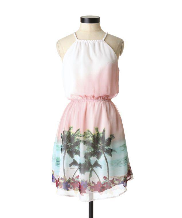 Tropical print dress by Dex