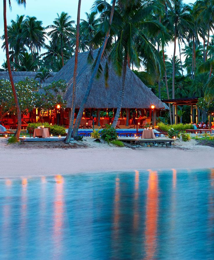 Jean-Michel Cousteau Resort, Fiji This 17-acre former coconut plantation on the island of Vanua Levu, an hour's flight from Nadi International Airport, overlooks Savusavu Bay. Guests stay in 25 thatch-roof huts, or bures, and are greeted on arrival with a coconut foot scrub.