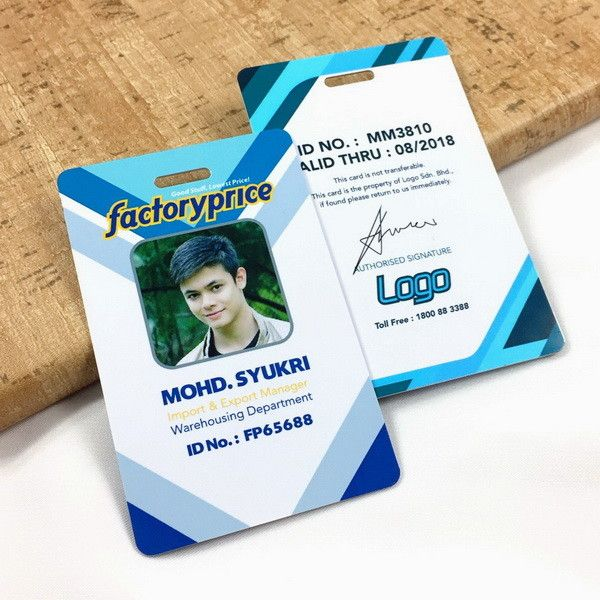 Id Card Printing Supplier Malaysia Employee Card Printing Id Badge Maker Employees Card Id Badge Maker Badge Maker