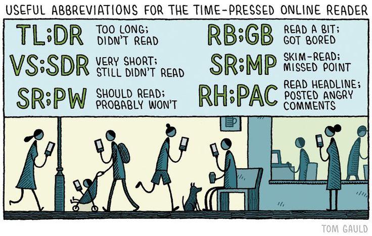 Abreviaturas útiles para el lector online con prisas